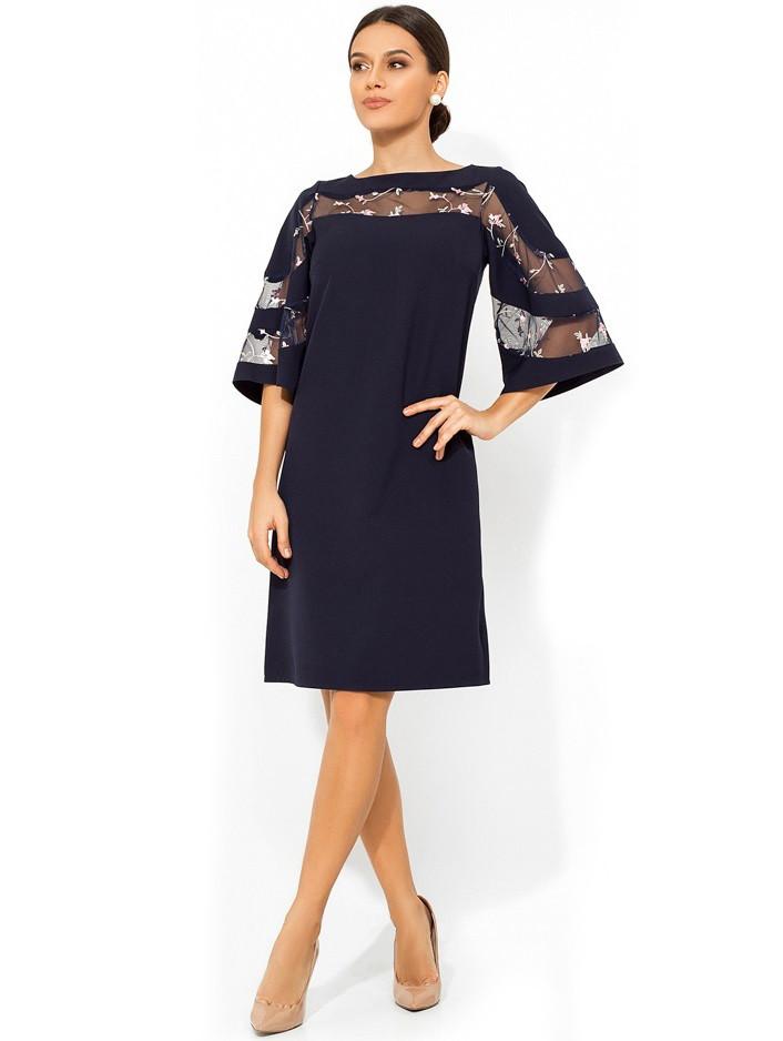 платье с рукавом-колокол